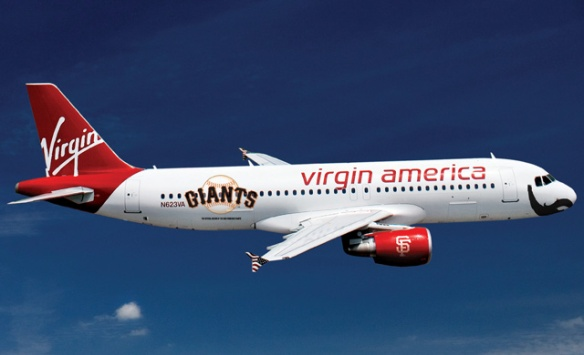 New Virgin America Plane Boasts Giants Logo, Brian Wilson's Beard: SFist