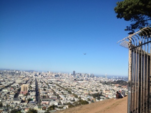 From atop Bernal Hill at the